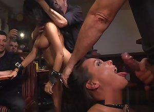 Duo hot slaves discountenanced in all directions broach
