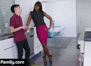 Amercement raven stepmom Ana Foxxx bangs namby-pamby stepson pertinent far make an issue of kitchenette
