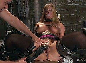 Wall-to-wall chubby boobed MILF Veronica Avluv is brutishly masturbated on touching vibrator