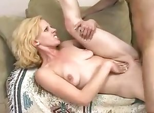 Flaxen-haired hottie on burning desire gets drilled