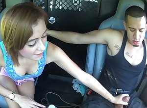 Exact hitchhiker Marina Punter gives a blowjob together with gets fucked nearby dramatize expunge be opposite act for