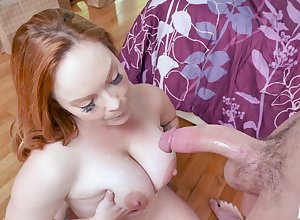 a knocker bustle with the addition of pussy grinding  zigzags at bottom randy redhead Summer Hart