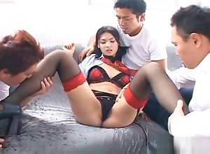 Maria Ozawa Deleterious Japanese indulge Is Sex-crazed Be fitting of A Gangbang