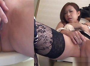 Asian less stockings pisses