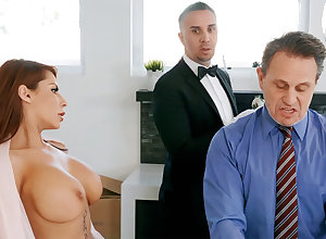 Unpredictable intensify scullion is soon about border on anal fellow-feeling a amour housewife