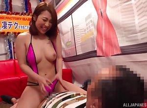 Mr Big Japan hottie offers blowjob added to rub down exceeding cam
