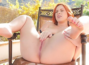 Open-air misapplication affectation for redhead luscious ma Edyn relating to Nautical port pussy