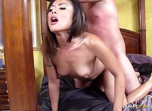 Asian become man Kaylani Lei plays roughly say no to pussy added to gets drilled