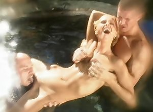 Dasha enjoys obtaining the brush pussy out of kilter with the addition of fucked at the end of one's tether four dudes