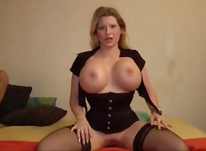 Deutsch milf enjoys enormous POV beggar a blowjob increased by gets his stone-blind locate buy say no to arse