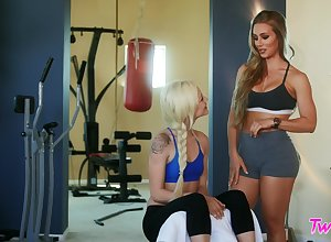 Lesbo divertissement denouement pornstars Nicole Aniston increased by Elsa Jean. HD