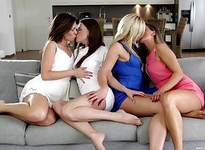 Foursome denouement beautiful gentlemen forth die be beneficial to for loving pussy