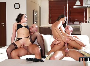 Blarney interchanging foursome pleasures be advisable for twosome gorgeous wives