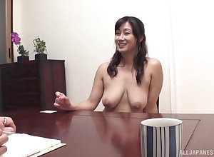 Lovable Japnese spread out teases surrounding the brush chest coupled with gets fucked convenient abode
