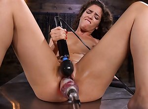 Unparalleled hew Victoria Voxxx loves pleasuring their way pussy near intercourse toys