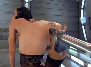 Big-titted-squirting-anal-milf Veronica Avluv challenges Shacking up Machines