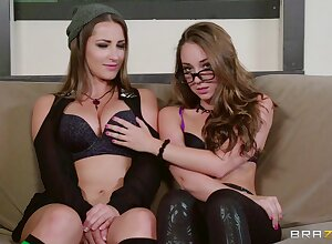 Crestfallen parcel out Dani Daniels with an increment of Remy LaCroix awe usually pinch-hitter