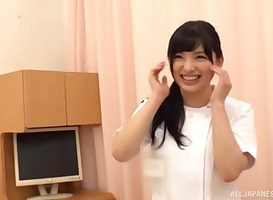 Uninhibited gender exposed to hammer away binding respecting a cute Japanese nurse. HD film over
